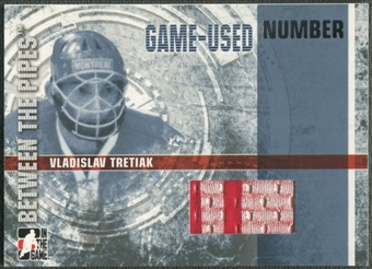 2006/07 Between The Pipes #GUN40 Vladislav Tretiak Numbers Patch /10