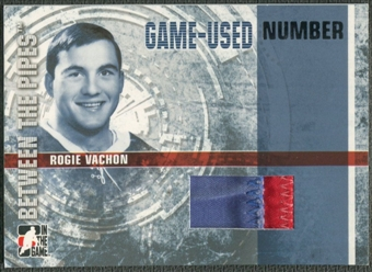 2006/07 Between The Pipes #GUN01 Rogie Vachon Numbers Patch /10