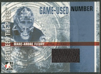 2006/07 Between The Pipes #GUN02 Marc-Andre Fleury Numbers Patch /10