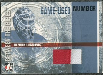 2006/07 Between The Pipes #GUN03 Henrik Lundqvist Numbers Patch /10