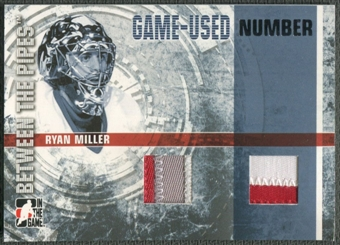 2006/07 Between The Pipes #GUN47 Ryan Miller Numbers Dual Patch /10