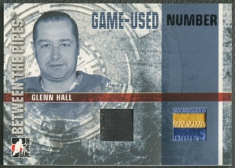 2006/07 Between The Pipes #GUN55 Glenn Hall Numbers Dual Patch /10