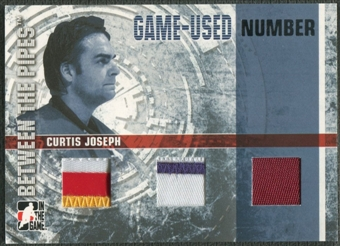 2006/07 Between The Pipes #GUN62 Curtis Joseph Numbers Triple Patch /10