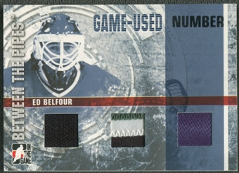 2006/07 Between The Pipes #GUN71 Ed Belfour Numbers Triple Patch /10