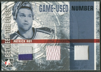 2006/07 Between The Pipes #GUN66 Patrick Roy Numbers Triple Patch /10