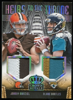 2014 Crown Royale  #HTCMB Blake Bortles Johnny Manziel Serial # 2/99 Manziel Jersey #!!