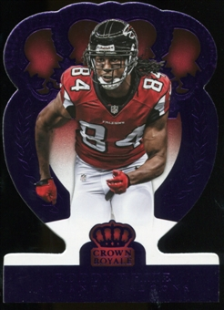 2014 Panini Crown Royale Purple Refractor #52 Roddy White Serial # 2/10