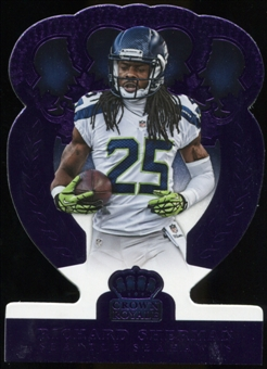 2014 Panini Crown Royale Purple Refractor #52 Richard Sherman Serial # 3/10
