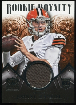 2014 Crown Royale Rookie Royalty Materials #RR40 Johnny Manziel /499