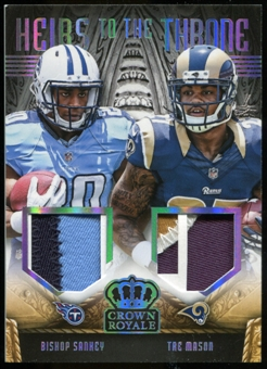 2014 Crown Royale Heirs to the Throne Bishop Sankey Tre Mason Prime Serial #33/99