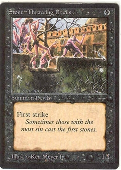 Magic the Gathering Arabian Nights Single Stone-Throwing Devils (a) - SLIGHT PLAY (SP)