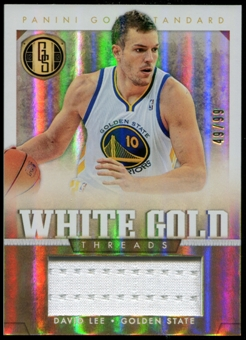 2012-13 Panini Gold Standard White Gold Threads #37 David Lee Serial #49/99