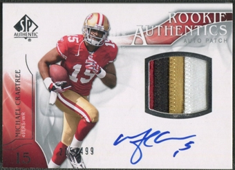 2009 SP Authentic #391 Michael Crabtree Rookie Patch Auto #215/499