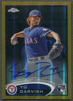 2012 Topps Chrome #151 Yu Darvish Gold Refractor Rookie Auto #03/50