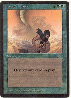 Magic the Gathering Arabian Nights Single Desert Twister - SLIGHT PLAY (SP)