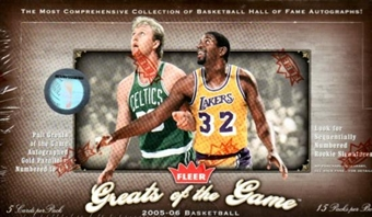 2005/06 Fleer Greats Of The Game Basketball Hobby Box