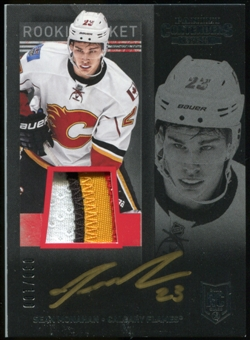 2013-14 Panini Contenders Patch Autographs #255 Sean Monahan Serial #30/100 4 color