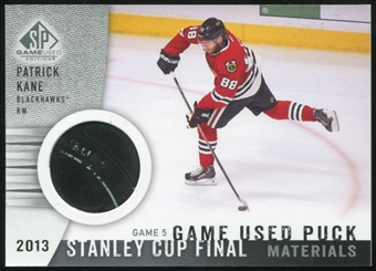 2013-14 Upper Deck SP Game Used Stanley Cup Finals Materials Game 5 Used Puck #SCGUPKA Patrick Kane