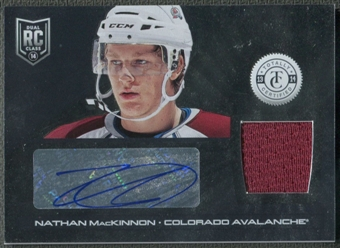 2013-14 Totally Certified #229 Nathan MacKinnon Rookie Jersey Auto