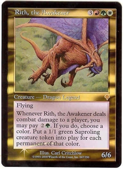 Magic the Gathering Invasion Single Rith, the Awakener Foil