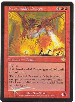 Magic the Gathering Mercadian Masques Single Two-Headed Dragon Foil