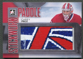 2013-14 ITG Stickwork Game Used Goalie Paddles #P10 Carey Price Silver Stick /14