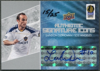 2012 Upper Deck Industry Summit #LVLD Landon Donovan Signature Icons Auto #15/25