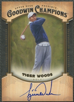 2014 Upper Deck Goodwin Champions #ATW Tiger Woods Auto SSP