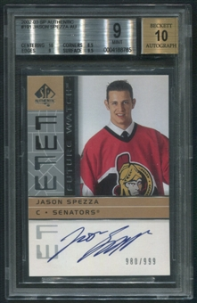 2002/03 SP Authentic #191 Jason Spezza Rookie Auto #980/999 BGS 9 (MINT)