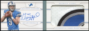 2013 Panini National Treasures Jumbo Prime Booklet Signatures #21 Matthew Stafford 7/10