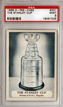 1969/70 O-Pee-Chee Hockey #231 The Stanley Cup PSA 9 (MINT) *1536