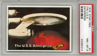 1976 Topps Star Trek The U.S.S. Enterprise PSA 8 (NM-MT) *4314