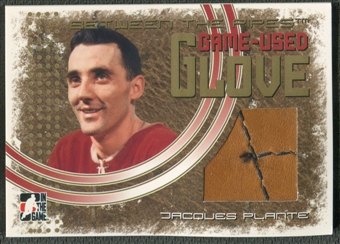 2006/07 Between The Pipes #GG15 Jacques Plante Game-Used Glove Gold /10