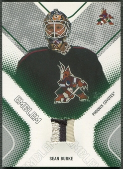 2002/03 Between the Pipes #29 Sean Burke Emblem /10