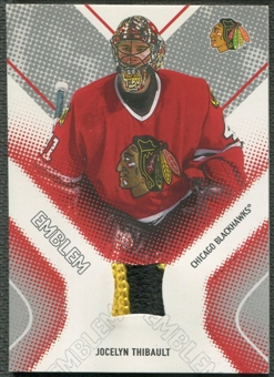 2002/03 Between the Pipes #13 Jocelyn Thibault Emblem /10