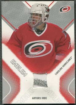 2002/03 Between the Pipes #1 Arturs Irbe Emblem /10