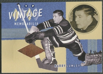 2002/03 Between the Pipes #2 Harry Lumley Vintage Memorabilia Pad /20