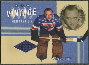 2002/03 Between the Pipes #13 Roy Worters Vintage Memorabilia Jersey /20