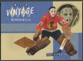 2002/03 Between the Pipes #9 Tony Esposito Vintage Memorabilia Pad /20