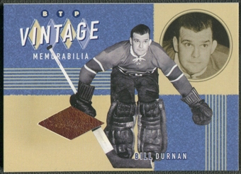 2002/03 Between the Pipes #5 Bill Durnan Vintage Memorabilia Pad /20
