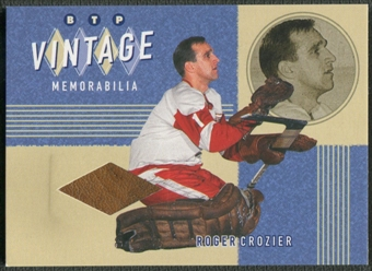 2002/03 Between the Pipes #3 Roger Crozier Vintage Memorabilia Pad /20