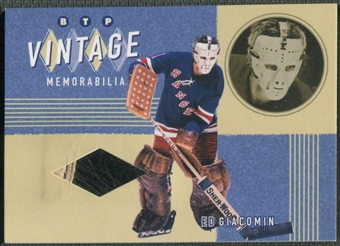 2002/03 Between the Pipes #4 Ed Giacomin Vintage Memorabilia Pad /20