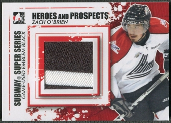 2011/12 ITG Heroes and Prospects #SSM17 Zach O'Brien Subway Series Black Emblem /6