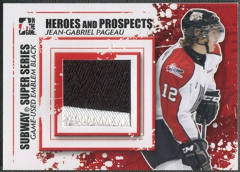 2011/12 ITG Heroes and Prospects #SSM18 Jean-Gabriel Pageau Subway Series Black Emblem /6