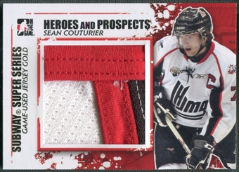 2011/12 ITG Heroes and Prospects #SSM25 Sean Couturier Subway Series Gold Jersey /10