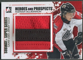2011/12 ITG Heroes and Prospects #SSM15 Nathan MacKinnon Subway Series Gold Jersey /10