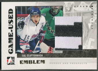 2007/08 ITG Heroes and Prospects #GUE16 Cal Clutterbuck Emblem /30