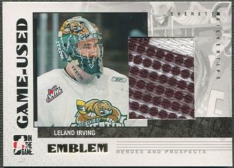 2007/08 ITG Heroes and Prospects #GUE11 Leland Irving Emblem /30