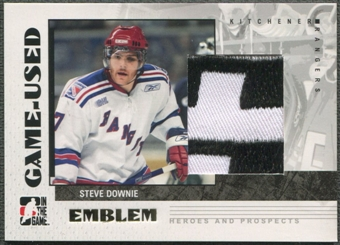 2007/08 ITG Heroes and Prospects #GUE12 Steve Downie Emblem /30