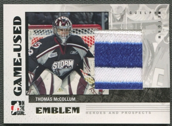 2007/08 ITG Heroes and Prospects #GUE14 Thomas McCollum Emblem /30